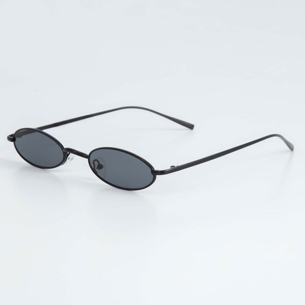 SLIM RAVE SUNGLASSES INCL. CHAIN - BLACK