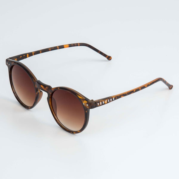 ROUND SUNGLASSES - DARK BROWN MIX