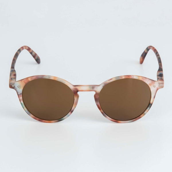 ROUND SUNGLASSES - BROWN COLOURMIX