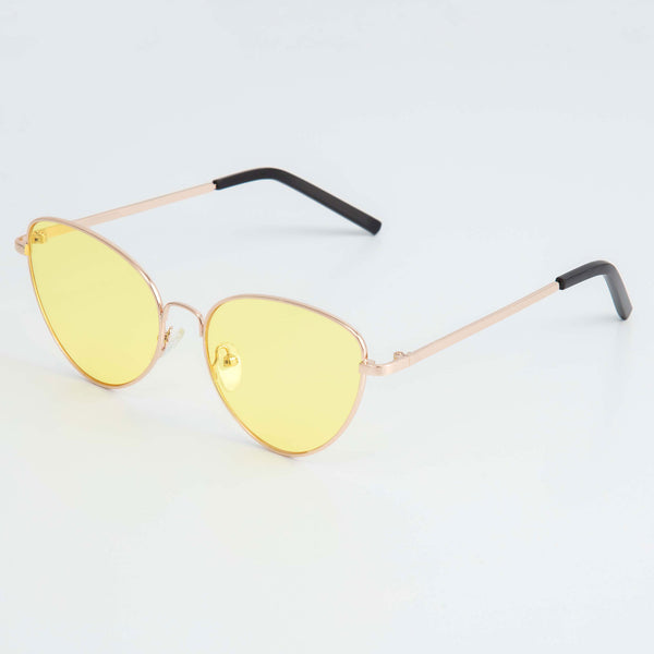 RETRO SUNGLASSES - YELLOW