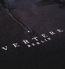 FLEECE ZIP SWEATER - BLACK