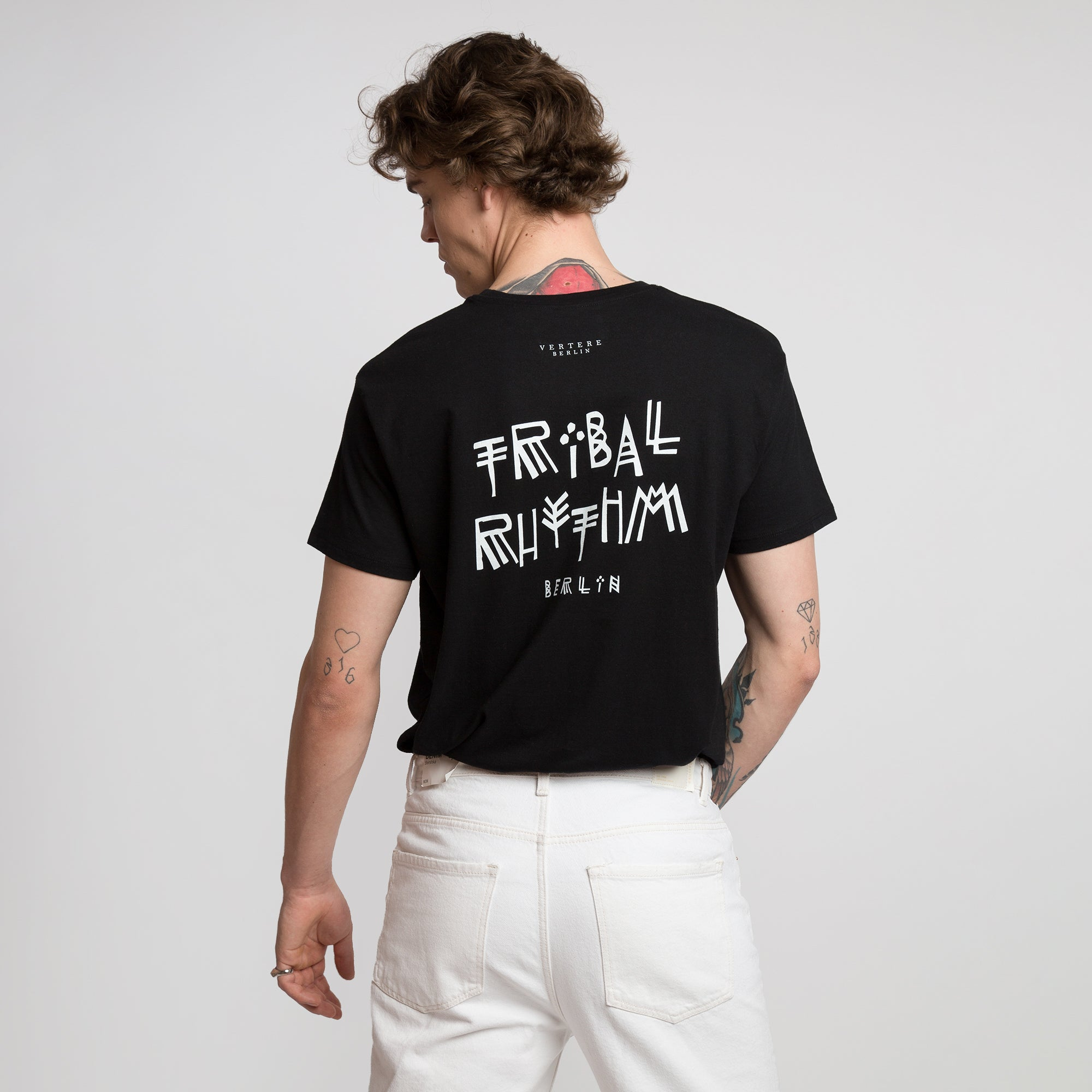 TRIBAL RHYTHM T-SHIRT - BLACK