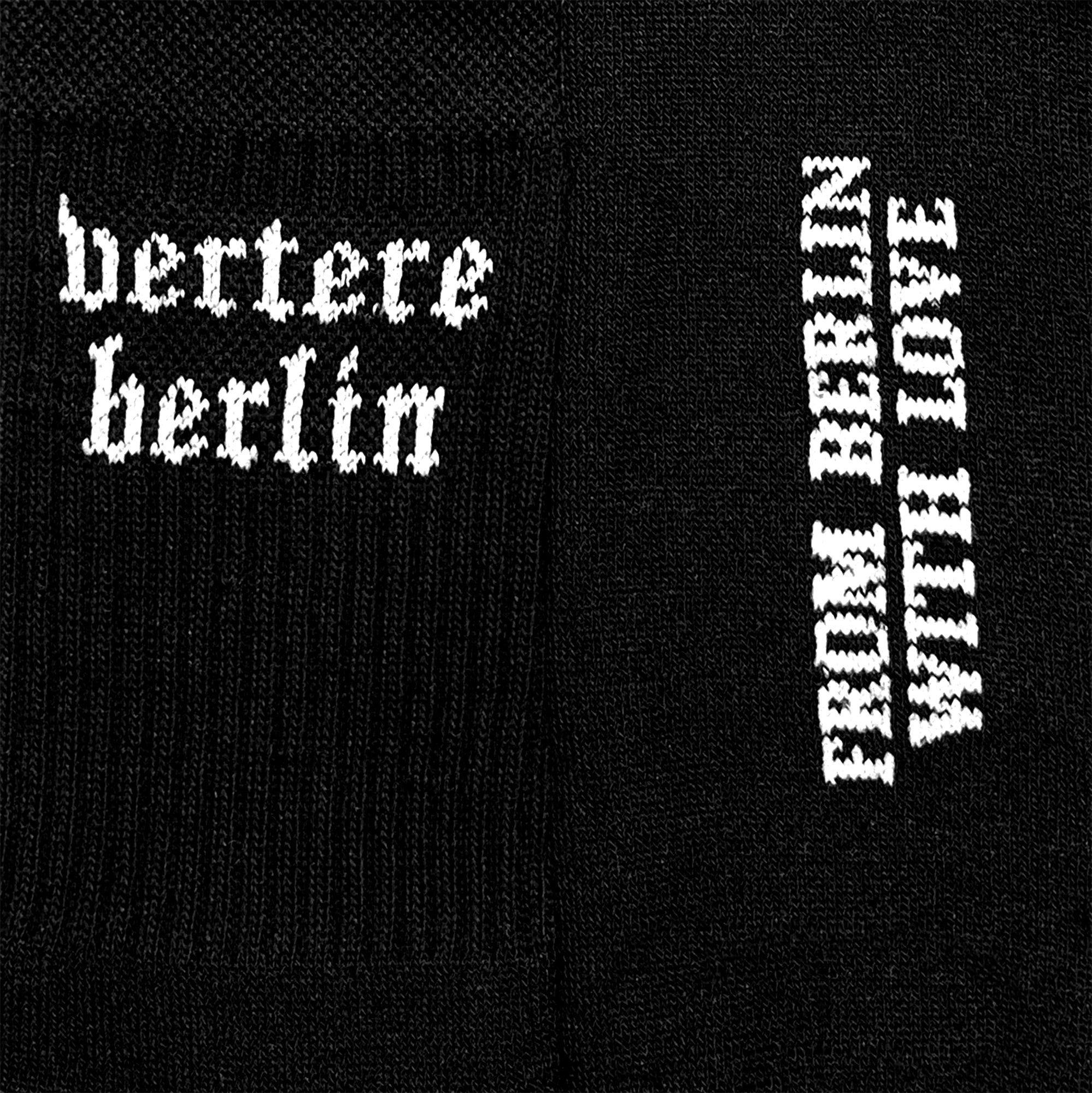 OLD BERLIN TENNIS SOCKS - BLACK
