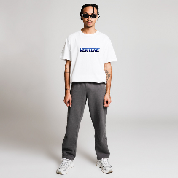 BLOCK LETTER T-SHIRT - WHITE/BLUE