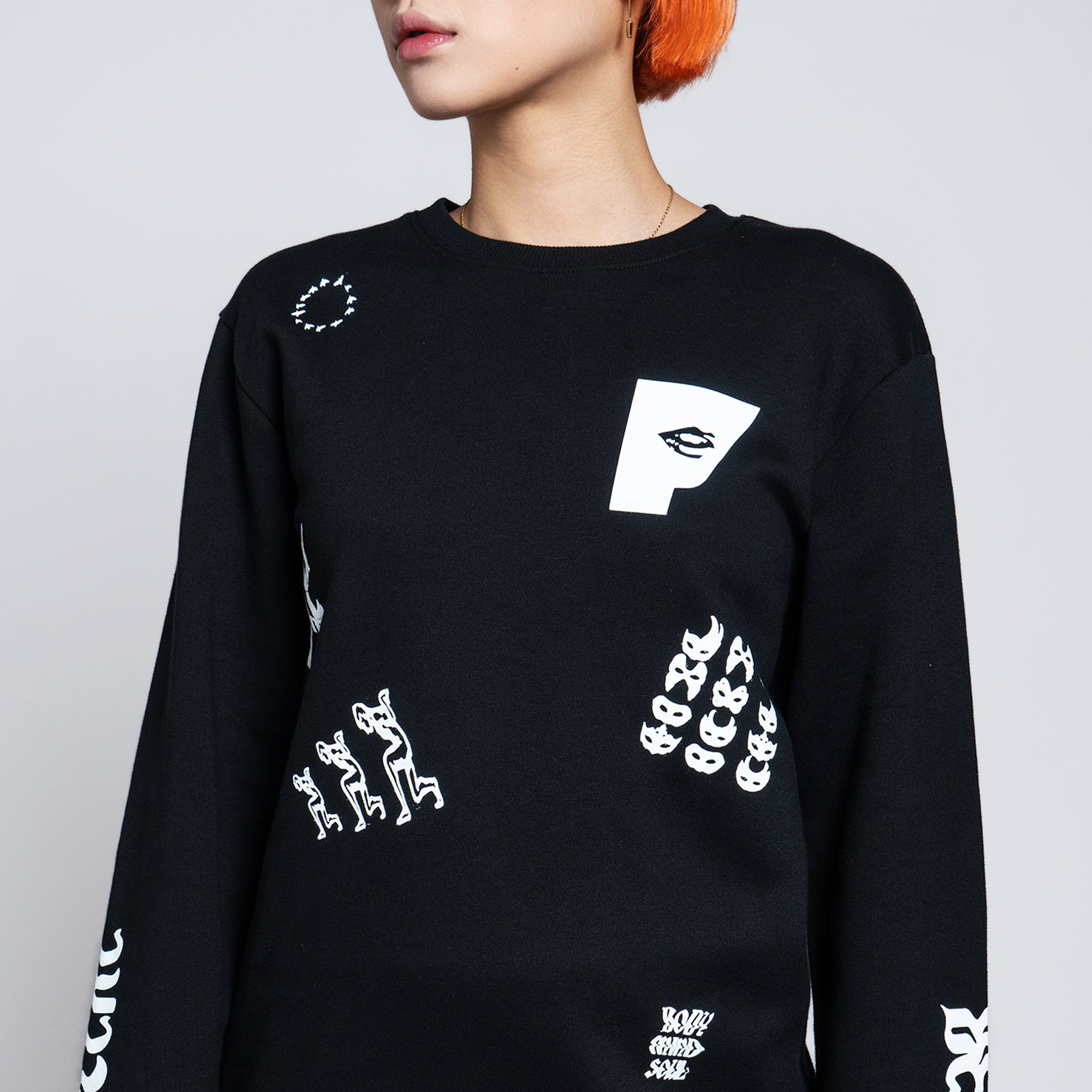 DECONSTRUCTION SWEATER - BLACK