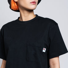 POCKET T-SHIRT ROSE - BLACK