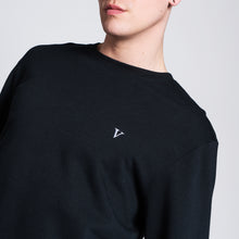 VINTAGE ROSE II SWEATER - BLACK
