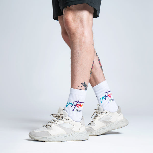 TENNIS SOCKS COLORIZE - WHITE