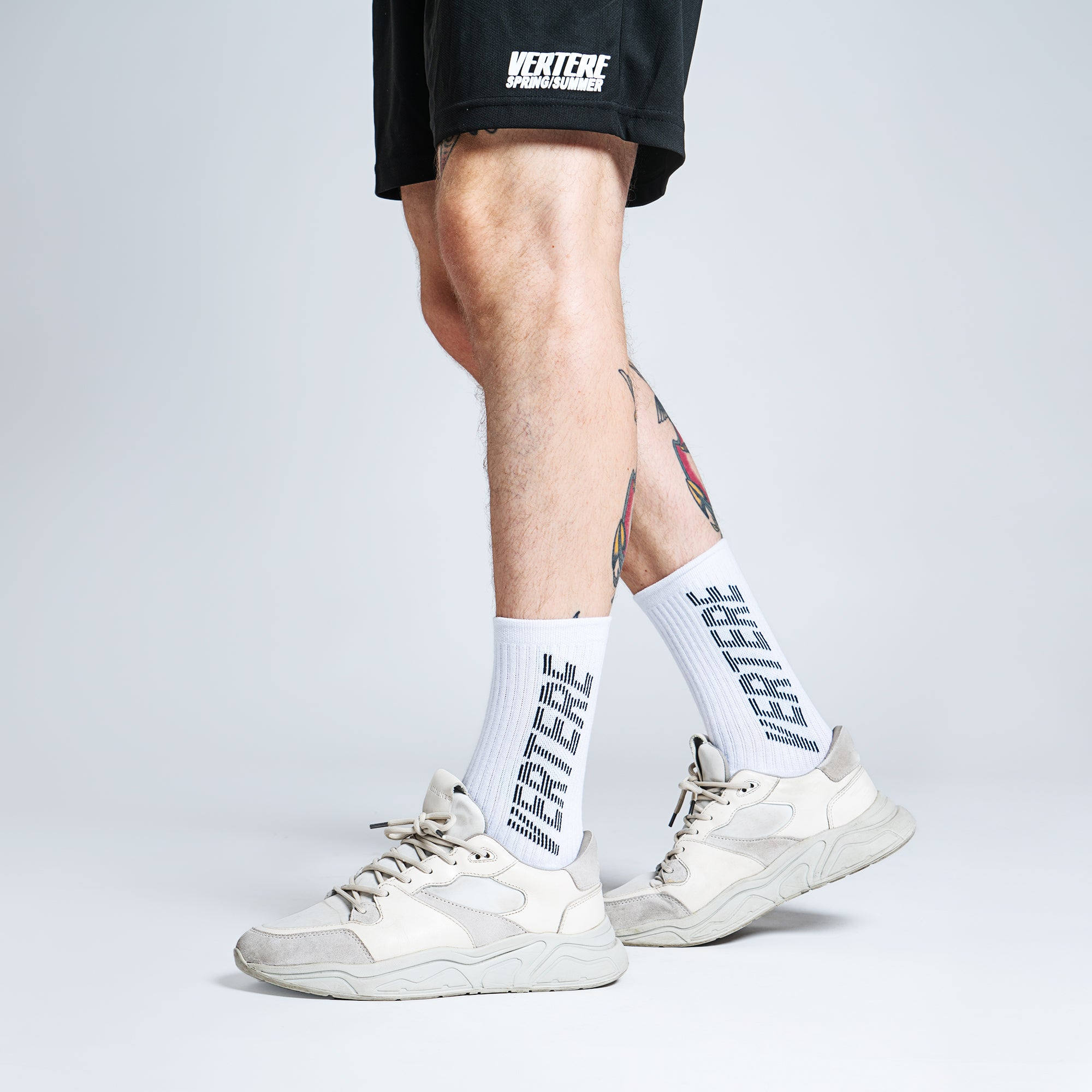 TENNIS SOCKS STRIPE - WHITE