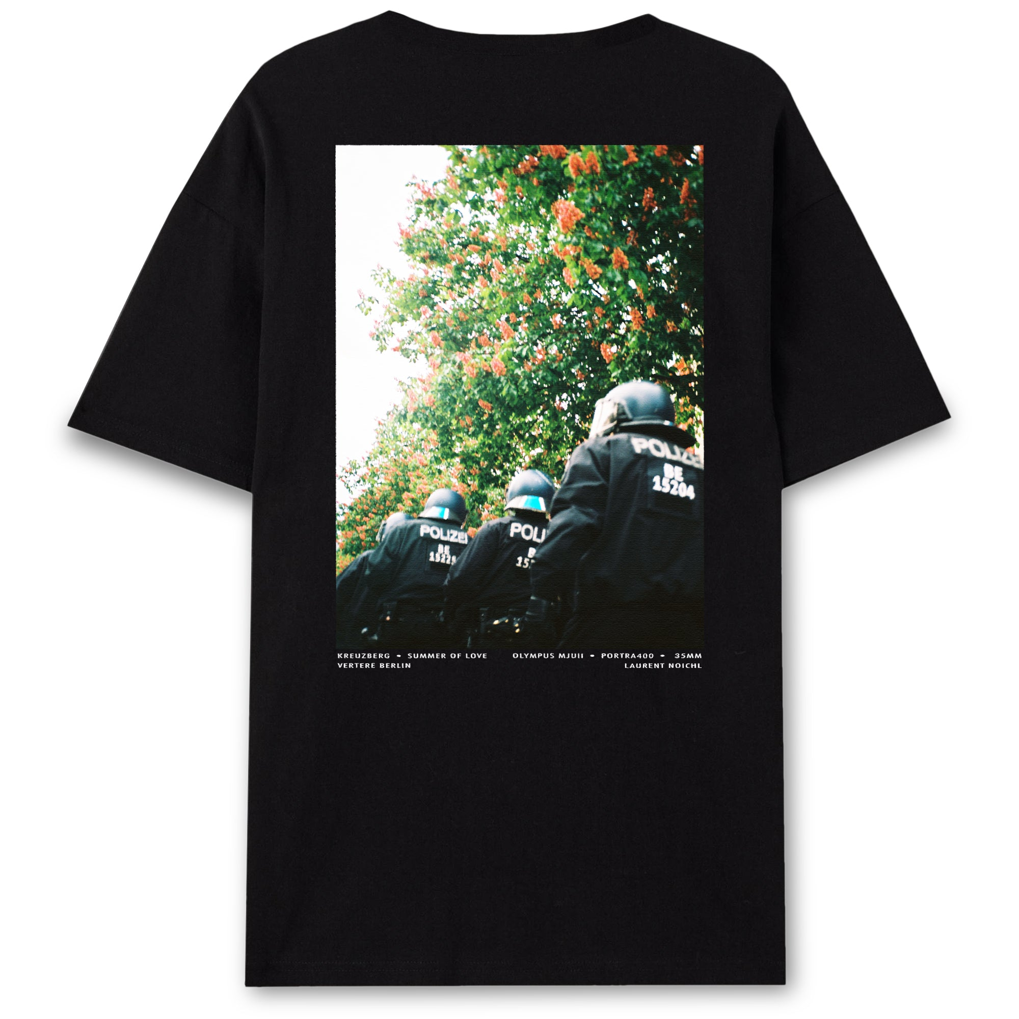 ANALOG POLICE T-SHIRT - BLACK