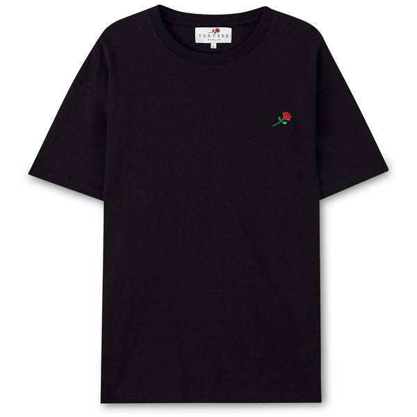ROSE T-SHIRT - BLACK
