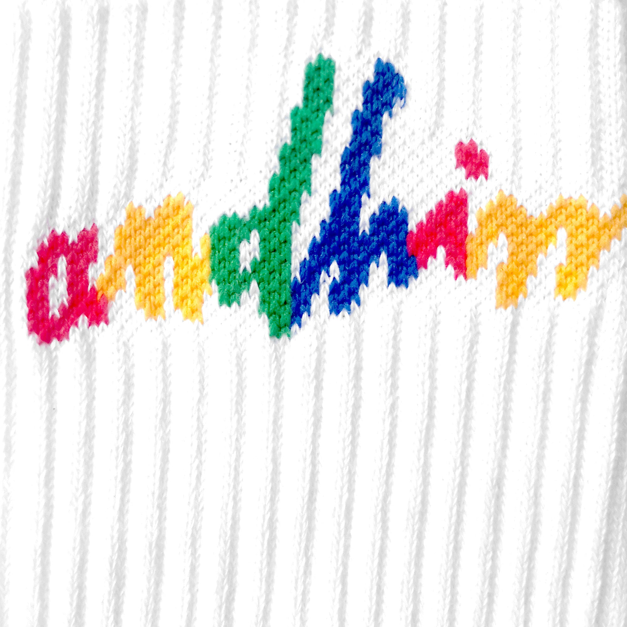 ANDHIM COLLAB RAINBOW SIGNATURE SOCKS - WHITE