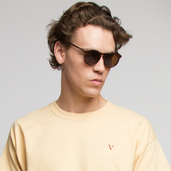 ROUND SUNGLASSES - BROWN