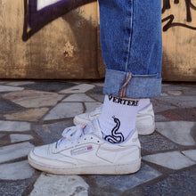 TENNIS SOCKS SNAKES - WHITE