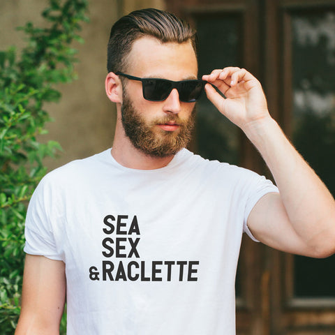 Tshirt-Homme-Sea-Sex-And-Raclette-Blanc-By-HelloTshirt