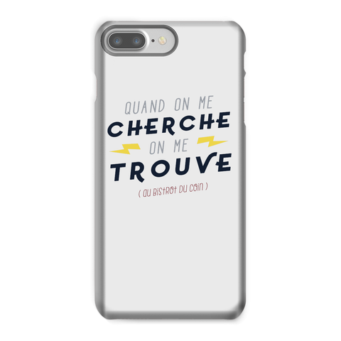 Coque Smartphone Quand On Me Cherche Blanc By HelloTshirt
