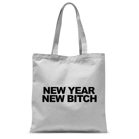 Totebag New Year New Bitch Blanc Naturel By HelloTshirt