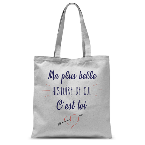 Totebag Ma Plus Belle Histoire Blanc Naturel By HelloTshirt