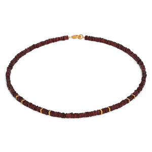 Necklace, Platino, Garnet, 24kt Yellow Gold over Sterling Silver
