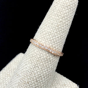 Ring, Wavy Stacking Pave Band