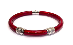 Bracelet, Granato, Sterling Silver and Enamel
