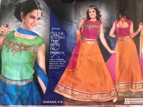 Chaniya choli & Lehangas & Crop tops