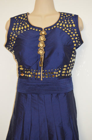 Cheniya Choli -3 piece suit- Tapetta cloth- With real mirror work- Crop top