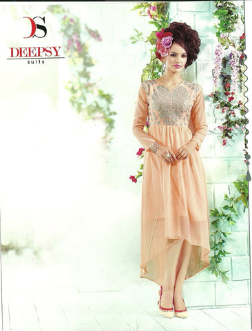 kurthi-georgette-Apricot color