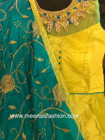 Silk dress with heavy Dupatta and pant