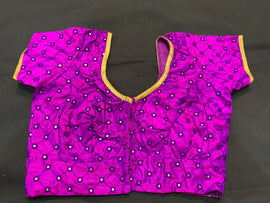 Silk blouse - customized- with mirror work