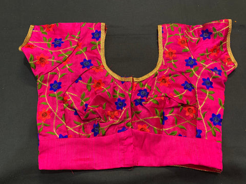 blouse - customized- with mirror work