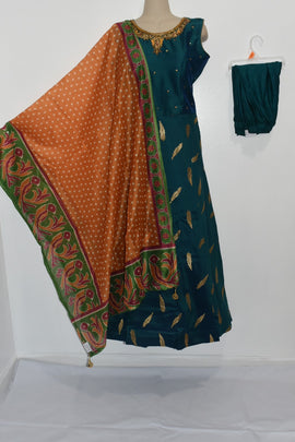 Beautiful dress with Ikkat Dupatta and Lycra Legging