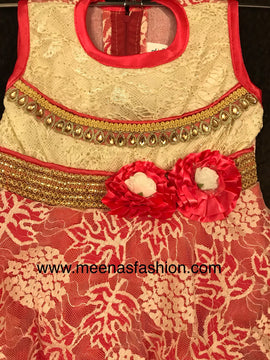 Babygirl's Frock-Light Red color
