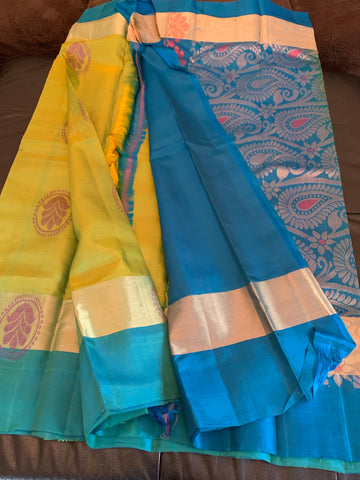 Pure Uppada Silk Handloom Saree Bridal wear.