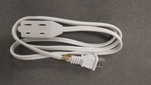 AZ WE-012WIS:Electrical Extension Cord 2Pin 3Outlet 4FT White