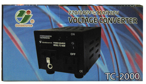 STU 2000  Gold:2000Watts Voltage Converter 220/240V 110/220V