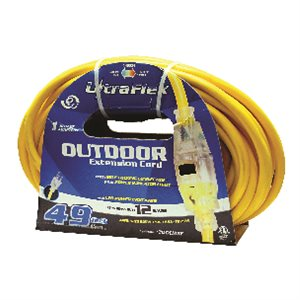 00123 TOO:3Pin Electrical Extension Cord 12/3 SJTW 50FT