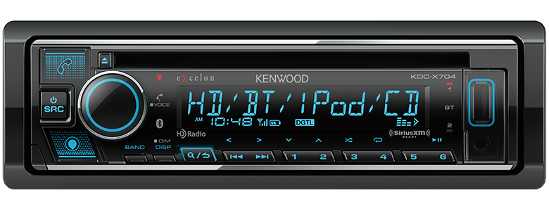 KDC X704 eXcelon:CD Receiver with Bluetooth & HD Radio