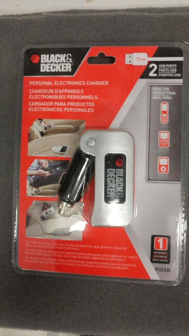 001B&D:2USB Car Charger Adapter 2.1A
