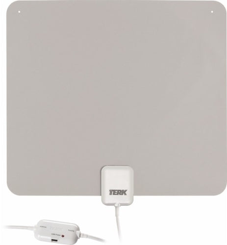 TERK THINTV1A - Ultrathin Indoor Amplified HDTV Antenna -White