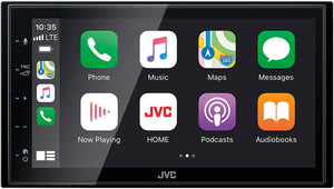 "KW-M560BT JVC:6.8"" Shallow Chassis Digital Media Receiver"
