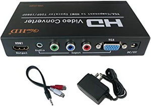 AZ 16-6708AA:Component OR VGA+Audio To HDMI Support Upscaler