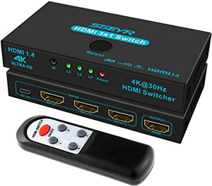 AZ 16-6831-42 AA:HDMI 4K Version2.0 Switcher 3IN1OUT W/Audio Extrator Support 4KX2K