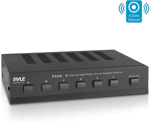 PSS6:6-Channel High Power Stereo Speaker Selector