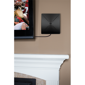 RCA ANT 1560Z SLIVR Amplified Indoor Flat HDTV Antenna - Multi-Directional
