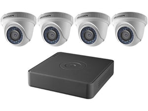 HIKVISION - 4-Channel 1080p DVR with 1TB HDD and 4 x 1080p Outdoor Turret Cameras Kit, T7104Q1TA