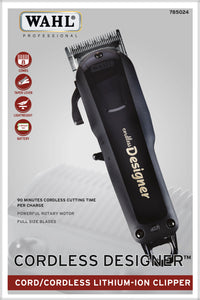 Wahl 56330 CORDLESS DESIGNER™ Professional Lithium Cord/Cordless Clipper