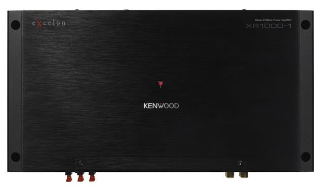 Kenwood XR1000-1 Excelon Mono subwoofer amplifier — 1,000 watts RMS x 1 at 2 ohms