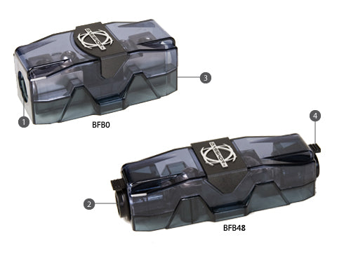 Bassworx BFBO 0 AWG Inline Fuse Holders