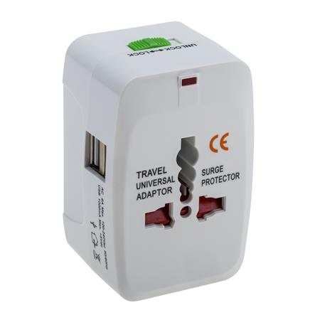 AZ002 adapter: Universal All In One Travel Plug Adapter/Converter with USB port